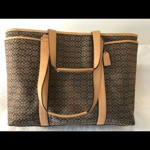 Coach large Tote A0785 leather and canvas